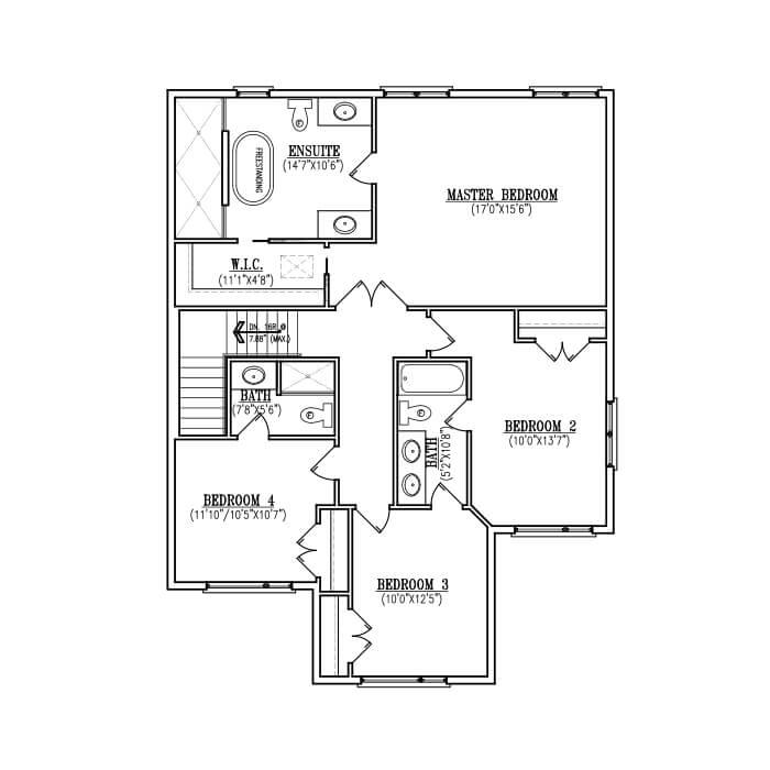 The Afton - Upper Floor - 1,248 sq. ft.