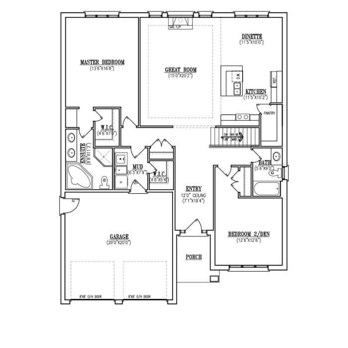 The Aspen - Main Floor - 1,662 Sq. Ft.