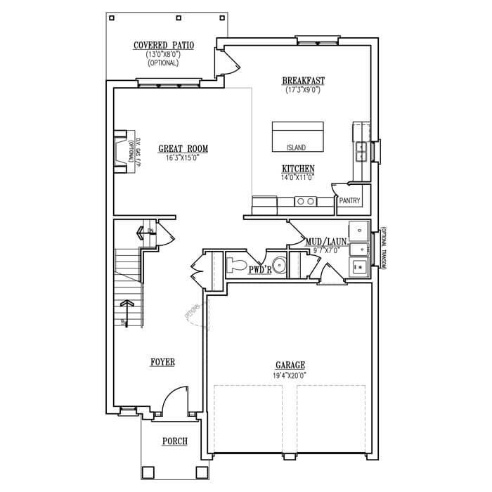 The Brookline - Main Floor - 1047 Sq. Ft.