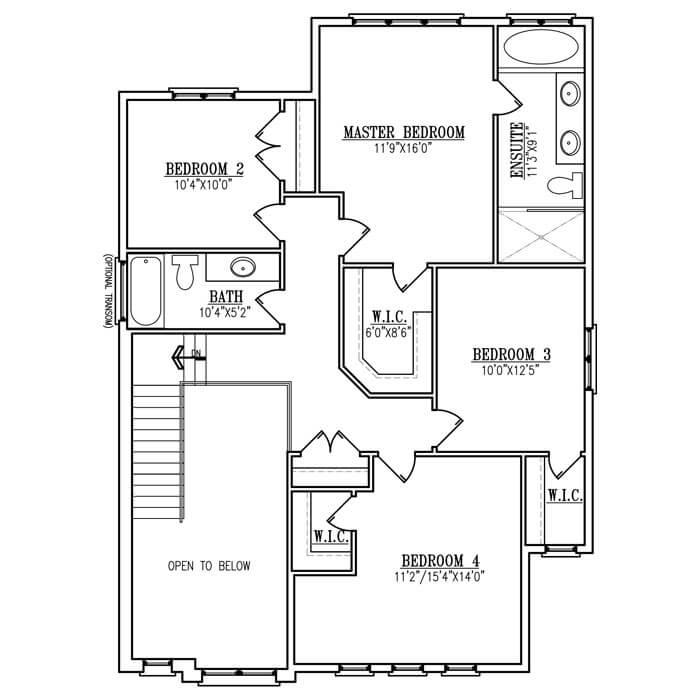 The Brookline - Upper Floor - 1154 Sq. Ft.
