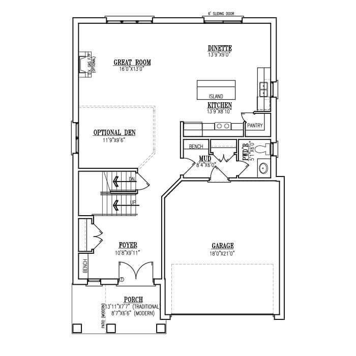 The Turin Modern - Main Floor - 1036 Sq. Ft.
