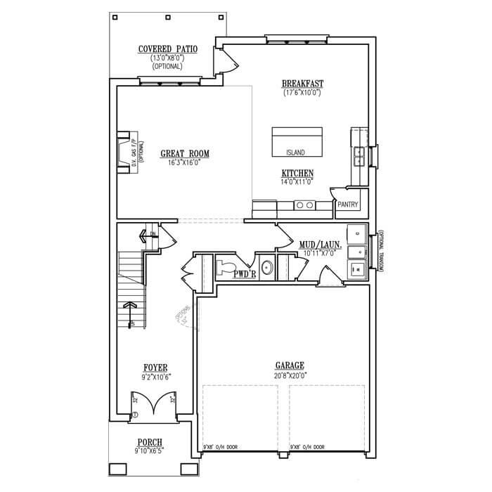 The Verona - Main Floor - 1066 Sq. Ft.