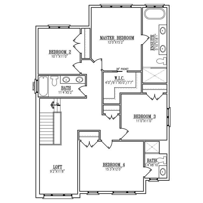 The Verona - Upper Floor - 1364 Sq. Ft.