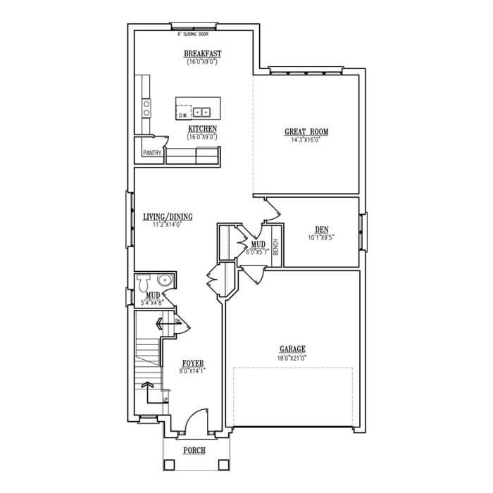 The Antonio II - Main Floor - 1270 Sq. Ft.