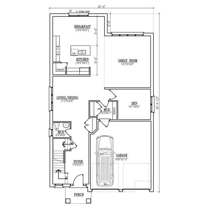 The Antonio - Main Floor - 1240 Sq. Ft.