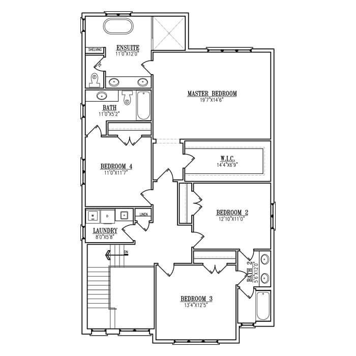 The Antonio - Upper Floor - 1566 Sq. Ft.