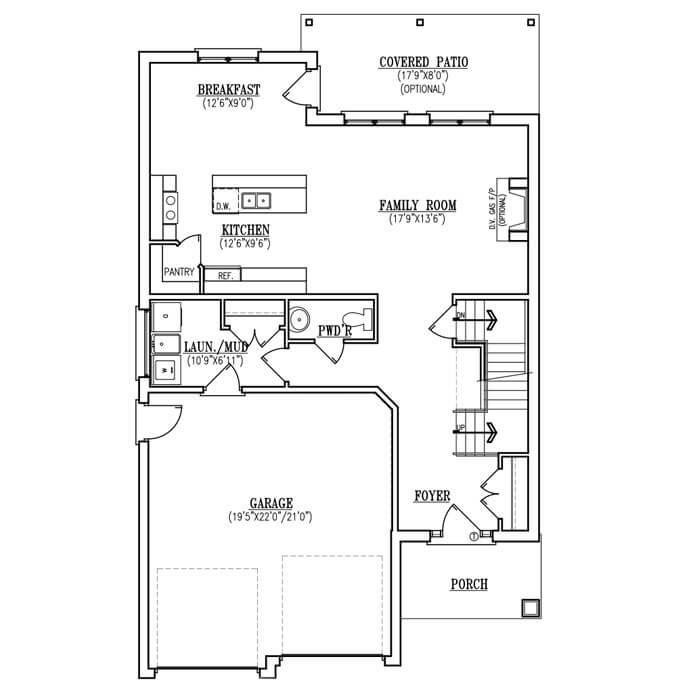 The Belle - Main Floor - 895 Sq. Ft.