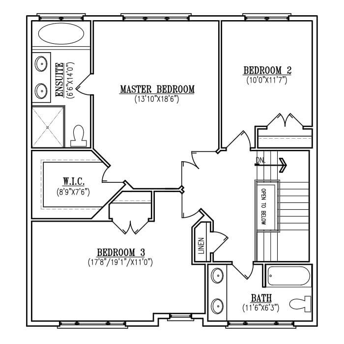 The Belle - Upper Floor - 979 Sq. Ft.