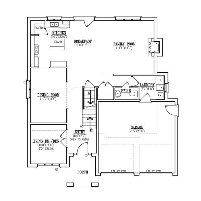 The Grace - Main Floor - 1,276 Sq. Ft.