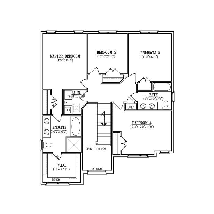 The Milan - Second Floor - 1,304 Sq. Ft.