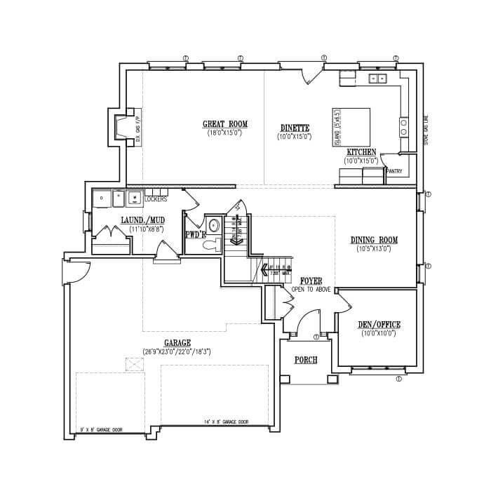 The Woodcrest - Main Floor - 1,422 Sq. Ft.