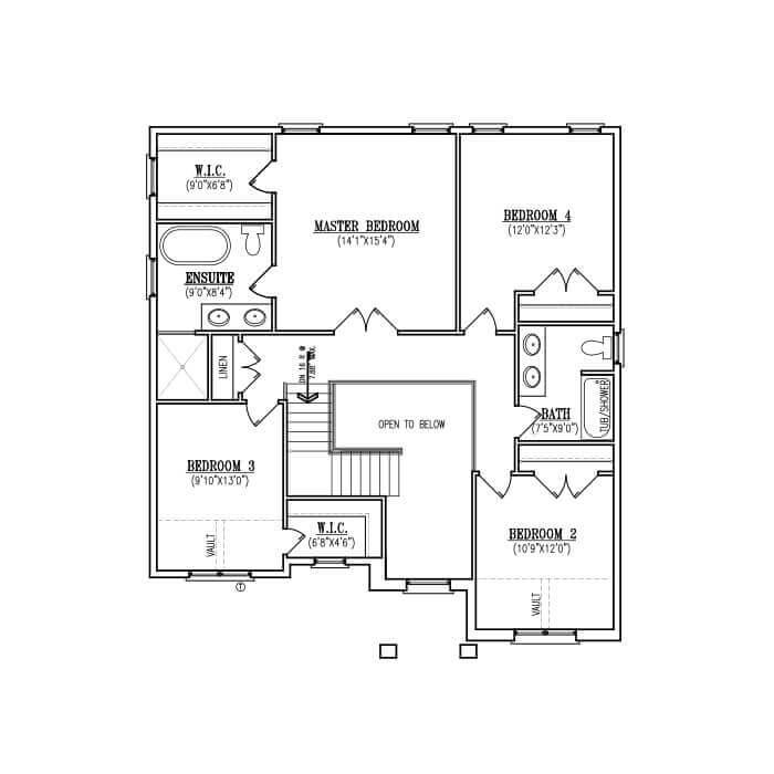 The Woodcrest - Upper Floor - 1,278 Sq. Ft. (+122 sq. ft. open)